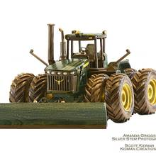 John Deere 9330 Wood Model  - Woodworking Project by Kidmancreations