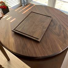 Walnut Lazy Susan and cutting board - Woodworking Project by Ethan