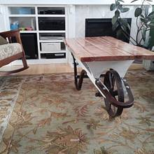 wheelbarrow Coffee Table  - Woodworking Project by Justin