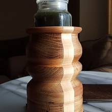 First try at turning oak - Woodworking Project by Galvipa