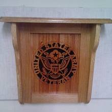 United States Army Veteran wall shelf - Woodworking Project by Rickswoodworks