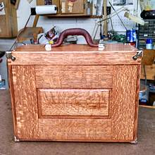 oak machinist tool chest - Woodworking Project by kenmitzjr