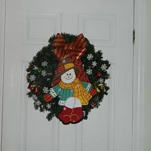 snowman wreath - Woodworking Project by Darlene
