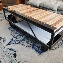 Industrial Steampunk Coffee Table  - Woodworking Project by Justin