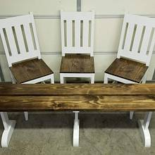 Bar Height Chairs and Bench - Woodworking Project by BWD