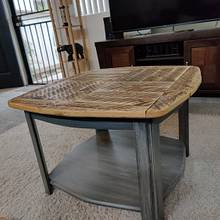 Refurbished barnwood coffee table - Woodworking Project by Avilawoodworks