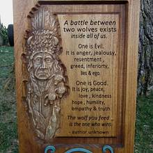 The Wolves inside - Woodworking Project by CarvedArtStudio511