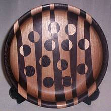 STRIPED BOWL WITH REVERSED DOTS - Woodworking Project by Sam Shakouri
