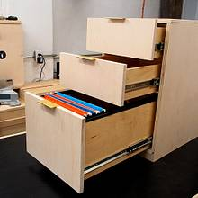 3-Drawer Office Cabinet - Woodworking Project by Marie from DIY Montreal