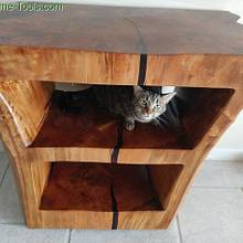 Cypress Stump Table; French Polish style - Woodworking Project by swirt