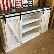 Barn door TV console - Woodworking Project by Fiftyfoursouth