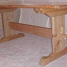 Large trestle table - Woodworking Project by a1jim
