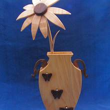 Vase and Flower - Woodworking Project by Celticscroller