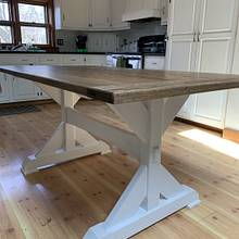 Trestle table  - Woodworking Project by StarsinicWoodworks