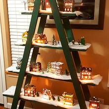 Christmas Village Display Stand - Woodworking Project by Tim