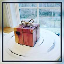 Black walnut ring with cedar box - Woodworking Project by Hilltop woodworking