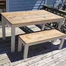 Outdoor Table & Benches - Woodworking Project by TCW