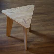 Triangle side table - Woodworking Project by thehackberry