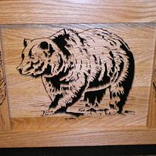 Grizzly plaque  - Woodworking Project by Rickswoodworks