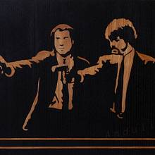 Pulp fiction marquetry - Woodworking Project by Andulino