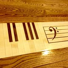 Piano room step inlay - Woodworking Project by Narinder Jugdev