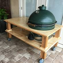 Green Egg BBQ - Woodworking Project by Angelo