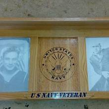 US Navy Picture Frame Shelf - Woodworking Project by Rickswoodworks