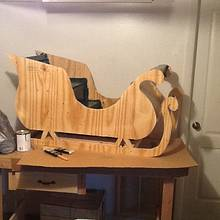 santa sliegh - Woodworking Project by jim webster