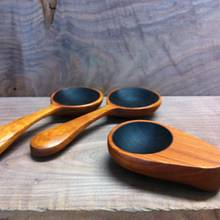 Cherry salad spoons and coffee scoop - Woodworking Project by Justsimplywood