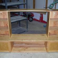 Entertainment Center - Woodworking Project by Railway Junk Creations