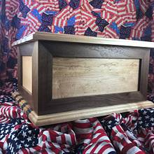 Walnut and Maple Cremation Urn - Woodworking Project by Roushwoodworking
