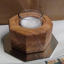 Octagon candle holder - Woodworking Project by Renee Turner