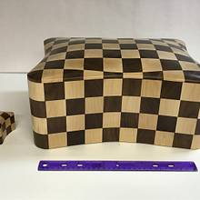 Large Checkerboard Box - Woodworking Project by Roger Gaborski