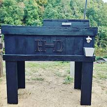 Harley davidson cooler - Woodworking Project by Hilltop woodworking