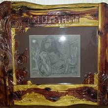 custom frame and drawing - Woodworking Project by Carvings by Levi