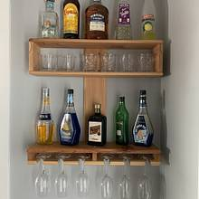 Wine/Liquor Shelf - Woodworking Project by Sheri Noble, woodworking at it's finest!
