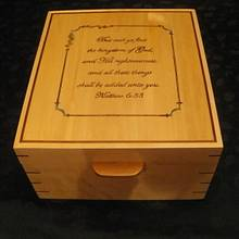 Birdseye Maple and Walnut wedding photo box - Woodworking Project by Lightweightladylefty