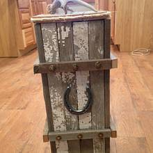 Rustic trash can  - Woodworking Project by Lanette