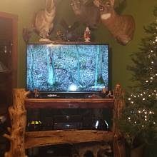 log tv stand - Woodworking Project by Carvings by Levi