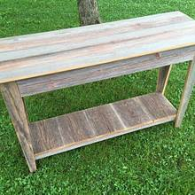 Entryway Table - Reclaimed Barn Wood - Woodworking Project by Michael Ray