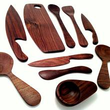 Complete set of my Black Walnut Utensils - Woodworking Project by Justsimplywood