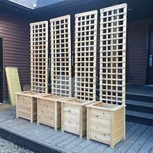 Cedar 8'tall lattice planters - Woodworking Project by Rosebud613
