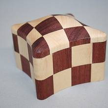 Checkerboard Box #23 - Woodworking Project by Roger Gaborski