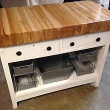 Kitchen work table - Woodworking Project by Boone's Woodshed