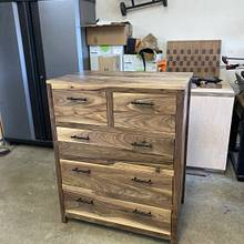 Solid Walnut Dresser - Woodworking Project by Craftsman_Originals