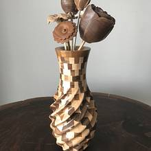 Segmented 4-Axis CNC Carved Vase #1 - Woodworking Project by BerchtoldDesignBuild