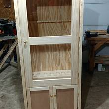 Another gun cabinet - Woodworking Project by Ed Schroeder