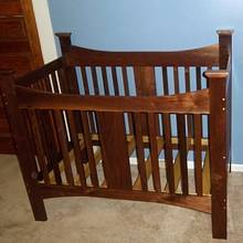 Walnut baby bed for great  nephew  - Woodworking Project by woodbutchersc