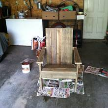 Reclaimed Adirondack Chair - Woodworking Project by Vettekidd97