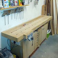 Bench for a one car garage workshop... - Woodworking Project by Renners